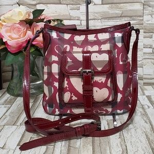 Burberry Bordeaux Nova Check Heart Crossbody